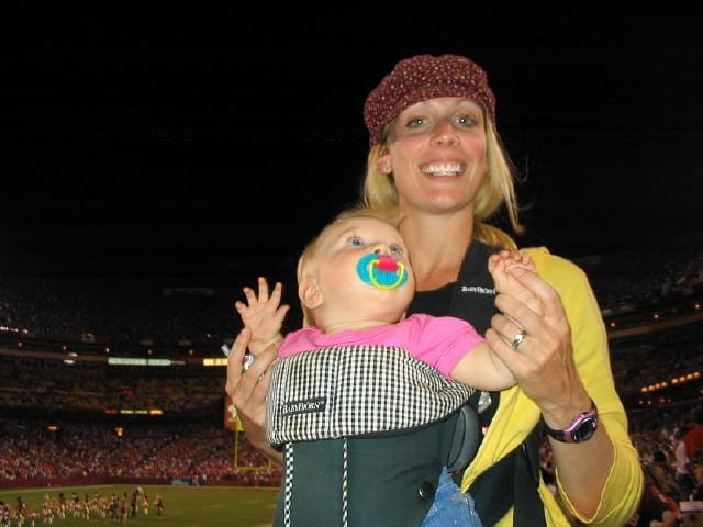Go Steelers! Jodie with baby Madeleine