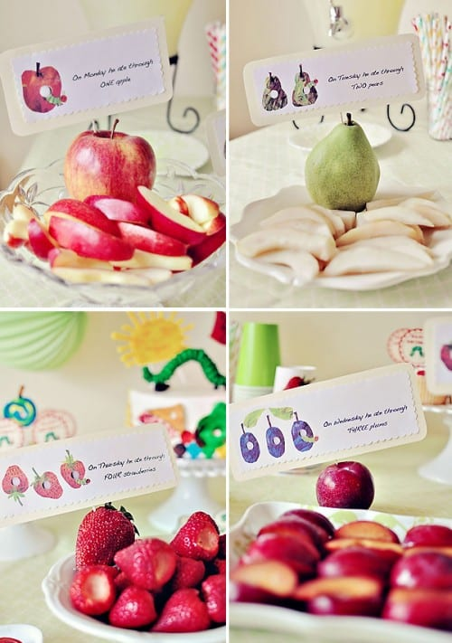 First birthday party ideas: Very Hungry Caterpillar birthday buffet